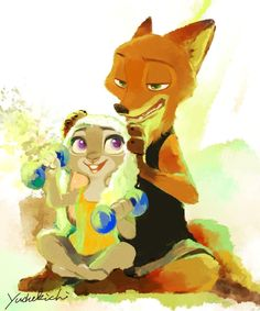 "aureliano276:  ""hotwildehopps:  ""Artist: yudukichi via twitter (ydk_disney)  Source: https://twitter.com/ydk_disney/status/895956554616160256  Something cute…  ""  Awwwww… these two are… so cute !  """