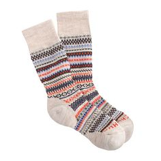 """These socks from Tokyo-based Chup are limited edition (seriously, the company makes only a handful each day) and made from moisture-wicking smartwool. Chup an acronym for """"Classical Human's Universal Peace,"""" refers to the sun, the moon and the stars in the sky, which the Ainu (Japan's native people) worshipped. <ul><li>USA.</li></ul>"""