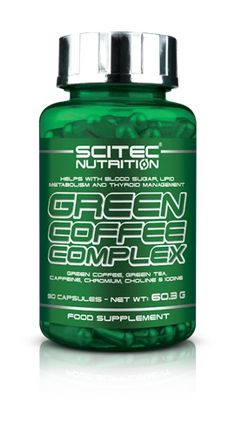 Helps with blood sugar, lipid metabolism and thyroid management Green Coffee, Green Tea, Caffeine, Chromium, Choline and Iodine GREEN COFFEE COMPLEX is a fantastic combination of 6 active ingredients based around the popular Green Coffee extract that provides Chlorogenic Acid. #scitec#bestnutrition#greencoffee#energy#metabolism