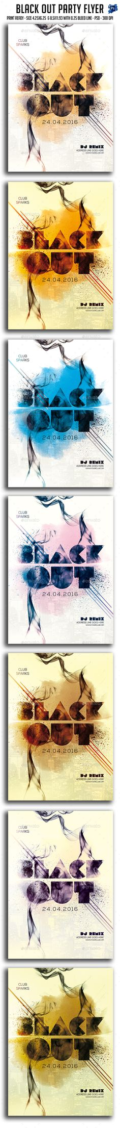 Black Out Party Flyer Template PSD. Download here: http://graphicriver.net/item/black-out-party-flyer-/15838699?ref=ksioks