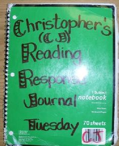 Great site for info on Reading Response Journals - ideas for types of pages to include
