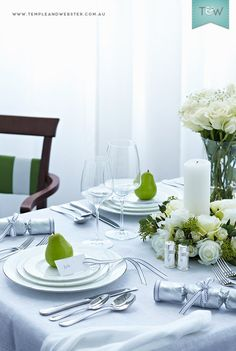 How to style your Christmas table, with tips from Jessica Bellef, Glen Proebstel, Megan Morton & Paul Joseph Hopper - on the Temple & Webster blog.