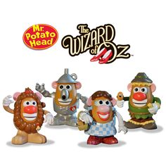The Wizard of Oz Mr. Potato Head Special Collectors set includes Dorothy and all her friends; The Scarecrow, Tin Man and Cowardly Lion. I wanttttt Mr Potato Head, Potato Heads, Broadway, Cowardly Lion, Tin Man, Yellow Brick Road, Thing 1, Over The Rainbow, Wizard Of Oz
