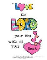 Bible Verse Printables - Cutesy Mark 12:30-31