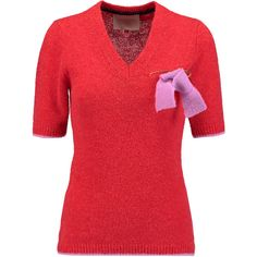 Roksanda Atara alpaca blend sweater ($540) ❤ liked on Polyvore featuring tops and sweaters