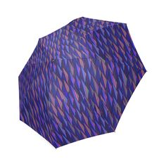 Purple and Blue Triangle Peaks Foldable Umbrella  #Artsadd #Gravityx9