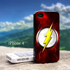 THE FLASH LOGO Iphone 4 / 4s Black Case   GoToArt - Accessories on ArtFire