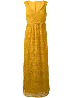 RED VALENTINO Lace Overlay Maxi Dress. #redvalentino #cloth #dress
