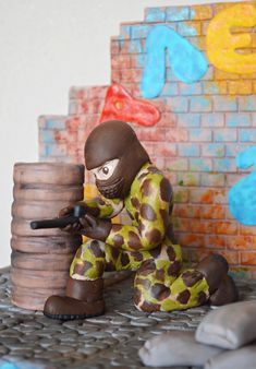 Paintball cake topper