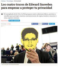 Los cuatro trucos de Edward Snowden para empezar a proteger tu privacidad / @eldiarioes   #readyfordigitalprivacy #gossiplibrarian15
