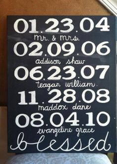 Important Dates  What a Difference a Day Makes by LindsayLettering, $40.00