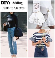 63d394f72a6 DIY Cuffs  The statement sleeve trend is still ruling the runway from  ready-to-wear to couture. Oversized cuffs and peek a boo shoulders are a .