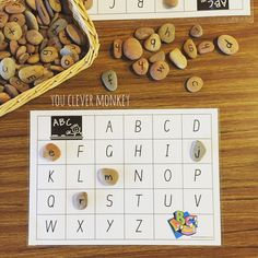 Perfect literacy centre activity for learning the letters of t… Matching letters. Perfect literacy centre activity for learning the letters of the alphabet Literacy And Numeracy, Preschool Literacy, Early Literacy, Preschool Letters, Alphabet Letters, Alphabet Bingo, Literacy Year 1, Kindergarten Literacy Activities, Reggio Emilia Preschool
