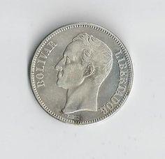 1936 Venezuela  Silver 5 Bolivares by COLLECTORSCENTER on Etsy