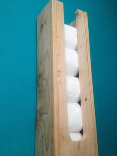 Toilet roll holder. Pallet wood