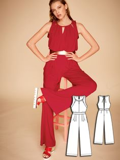 Open Back Jumpsuit 04/2016 #burdastyle #sewing #pattern #diy