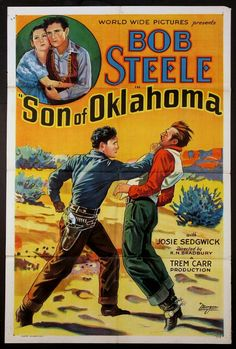 Son of Oklahoma poster, t-shirt, mouse pad Old Movie Posters, Original Movie Posters, Vintage Posters, Alfred Hitchcock, Old Movies, Vintage Movies, Vintage Cars, Oklahoma Movie, Old Western Movies