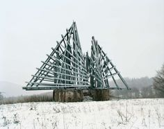 """Korenica Monument, former Yugoslavia, now Croatia. This abandoned monument near the Croatian-Bosnian border symbolizes """"the new freedom"""" for the Yugoslavian people."""