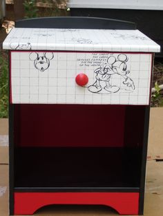 Upcycled Mickey Mouse End Table. $60
