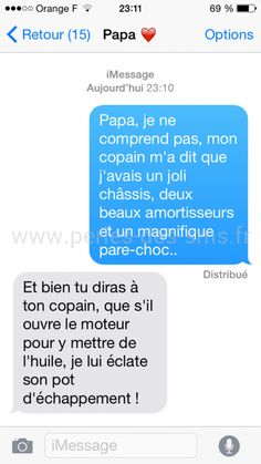 Voici 10 Des Plus Drôles Echanges de Textos Entre Pères et Filles ! Here are 10 of the funniest text exchanges between fathers and daughters! Lol, Funny Texts, Funny Jokes, Funny Images, Funny Pictures, English Jokes, Post Quotes, Decir No, I Laughed