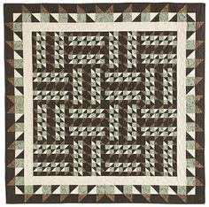 masculine quilt blocks | Making Moose Tracks | Quilty Pleasures Blog