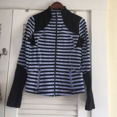 LULU CANDY STRIPE zip up VGC hardly worn! Can no longer find this in stores  lululemon athletica Sweaters