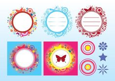 Butterfly Frames vector free