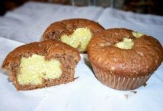 Boci muffin 2. - túrós   NOSALTY Muffin, Healthy Sweets, A 17, Cake Recipes, Deserts, Breakfast, Food, Pizza, Cakes