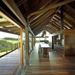 Timber Ceiling System for Serene Modern Farmhouse with Wooden Material