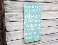 Teapot Kitchen Art Kitchen Decor Word Art Sign by TheHeartwood, £35.00