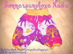 """Sommerpumphose Nada - gratis Pdf Ebook mit Schnitt und Anleitung - free pattern under Picture, click """"Schnittmuster Nada"""""""