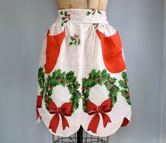 vintage 1950s hostess apron / reversible / by Luncheonettevintage, $18.00
