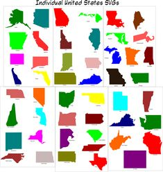 Individual State SVGs - planning on making these into a big map for little man.