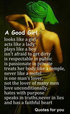 A Good Woman- Scorpio...That sums it up pretty well I'd say!