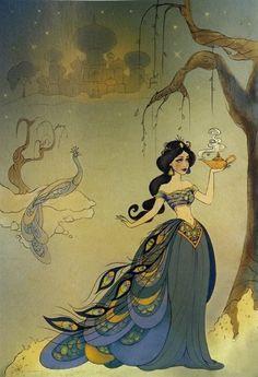 Princess Jasmine Peacock Dress