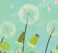 Nice fabric from textile designer Amy Schimler. Re-pinning everything with a dandelion on it these days, ha.