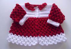Croche e Cia: Casaquinho de croche para bebe Baby Patterns, Crochet Patterns, Baby Sweater Knitting Pattern, Crochet Bebe, Crochet Jacket, Baby Sweaters, Little Princess, Baby Dress, Lace Shorts
