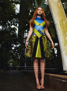 force of nature: lily cole by ami sioux for uk instyle july 2013 | visual optimism; fashion editorials, shows, campaigns & more!