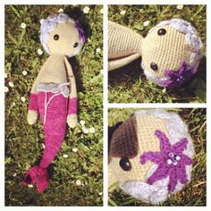 MICI mermaid made by snizengreen / crochet pattern by lalylala