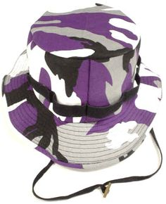 Purple, Black and White Camouflage Hat