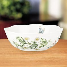 (10) Butterfly Meadow® Herbs All Purpose Bowl by Lenox (SKU: 827626) 16 OZ
