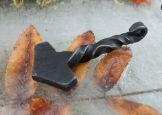 Double Twisted Hand-Forged Thor's Hammer by SvensVikingForge on Etsy