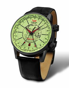 Vostok Europe Gaz-14 Limousine World Timer Black/Black Watch 2426/5604240