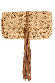 Abaco Crochet Raffia Clutch | Calypso St. Barth