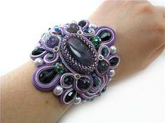 Браслет и серьги фиолетовые | biser.info - всё о бисере и бисерном творчестве