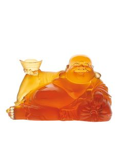 Happy Buddha Figure by Daum at Neiman Marcus.