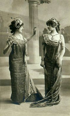 Art Nouveau fashion postcards