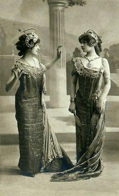 Art Nouveau fashion postcards