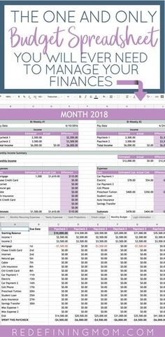 Easy Family Budget Spreadsheet Easy Budget and Financial Planning Spreadsheet for Busy Families / How to make a budget/ Excel budgeting spreadsheet / monthly budgeting / budgeting for beginners / budgeting tips / financial planning for beginners Financial Peace, Financial Tips, Financial Planning, One Main Financial, Planning Excel, Planning Budget, Family Budget Planner, Family Planning, Saving Money