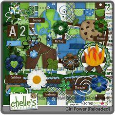 Digital Scrapbook Wordart - Girl Power | Chelle's Creations